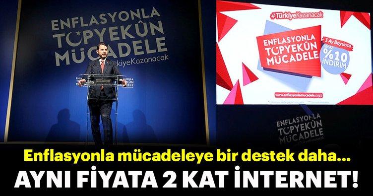 """Turkcell'den enflasyonla mücadeleye """"2 kat internet"""" desteği!"""